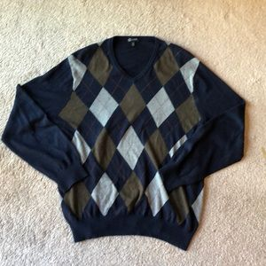 J. Crew argyle pullover sweater